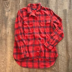 Madewell Plaid Flannel Button Up